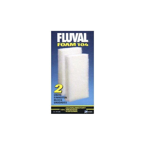 Filtersvamp til Fluval 104/105 (2 stk.)