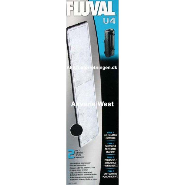 Fluval U4 Poly/Carbon (2 stk)