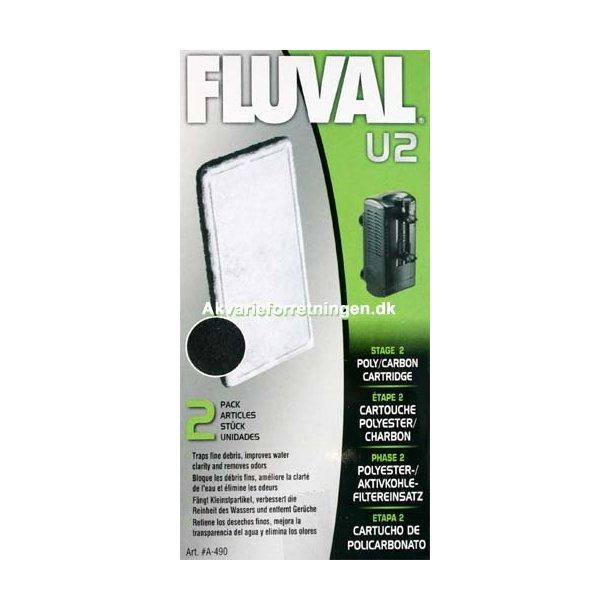 Fluval U2 Poly/Carbon (2 stk)