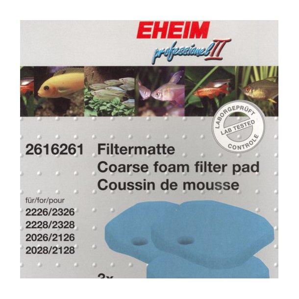 Filtersvampe blå til 2x26 og 2x28 (3 stk.)